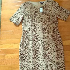 NWT Leopard print Land's End dress, size 12P